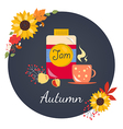 Autumn with jam vector image