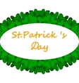 Banner with Patrick Day clover decorated vector image vector image