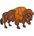 bison american buffalo cartoon vector image
