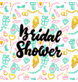 bridal shower handwritten postcard vector image