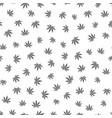 cannabis seamless pattern marijuana leaf gray vector image