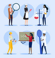 collection profession occupation set vector image