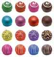 colorful candies vector image vector image