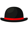 colorful cartoon bowler hat vector image