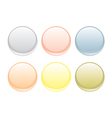 Colorful web buttons set isolated on white vector image vector image