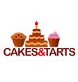 confectionery logo vector image vector image