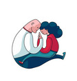 couple mutual support concept vector image vector image
