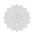 decorative ethnic mandala outline isolates vector image