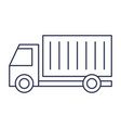 delivery service with truck transportation vector image vector image