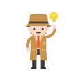 detective cute character professional set flat vector image vector image