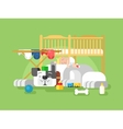 Dog and baby sleep vector image vector image