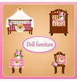 Dollhouse furniture for children room vector image vector image