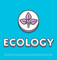 ecology colour icon in line design vector image vector image