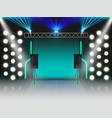empty stage with illumination and dynamics scene vector image vector image
