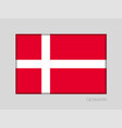 flag of denmark national ensign aspect ratio 2 to vector image vector image