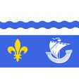 flag of hauts-de-seine france vector image