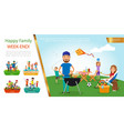 flat family outdoor recreation concept vector image vector image