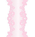 floral lace borders vector image vector image