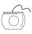 floss box icon outline style vector image