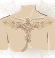 Freehand drawing of lily oncollarbones vector image vector image