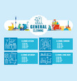 general cleaning flat vector image vector image