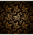Gold leaves on black vector image