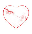 grunge isolated heart vector image vector image