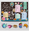 hand drawn menu vector image vector image