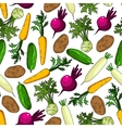 Healthy organic fresh vegetables seamless pattern vector image vector image