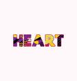 heart concept word art vector image