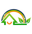home rainbow leaf vector image
