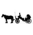 Horse and Buggy vector image vector image