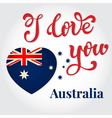 I love you Australia Hand lettering Greeting Card vector image vector image