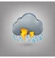 Icon weather Rain cloud lightning vector image