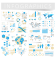 infographics with data icons world map vector image vector image