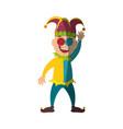 jester clown cartoon vector image vector image