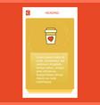 juice glass mobile vertical banner design design vector image