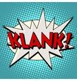 klank comic bubble retro text vector image vector image