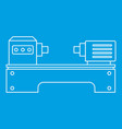 lathe machine icon outline style vector image vector image