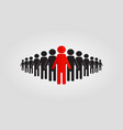 leader icon business concept flat design vector image vector image