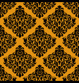 luxury decorative seamless pattern on golden vector image vector image