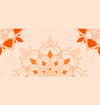 Mandala patterns on orange background