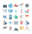 Map and Navigation Colored Icons 2 vector image vector image