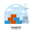 maritime transport industry vector image