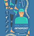 medical health care orthopedist doctor vector image vector image
