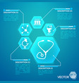 medicine and pharmacy blue poster vector image vector image