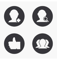 modern social network icons set vector image vector image