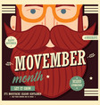 movember poster design prostate cancer awareness vector image