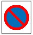 no parking symbol vector image vector image