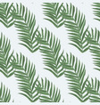 palm leaf seamless pattern background beach vector image vector image